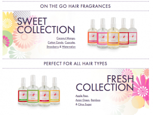 hair fragrance and new website