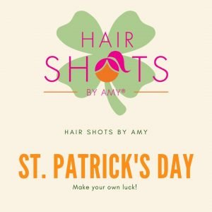 Hair fragrance spray and St. Pattys Day