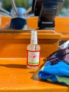 Hair Freshener Spray and on a boat